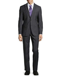 Classic-Fit Grand Central Solid Two-Piece Suit by Hugo Boss in Modern Family