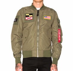 L 2B Flex Bomber Jacket by Alpha Industries in Animal Kingdom