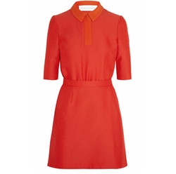 Contrast-Collar Cady Dress by Victoria Beckham in Elementary
