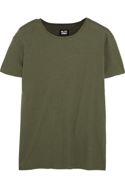 Brushed Cotton and Cashmere-Blend T-Shirt by NLST in Jem and the Holograms