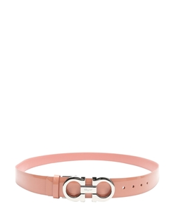 Leather Gancini Reversible Belt by Salvatore Ferragamo in Scream Queens