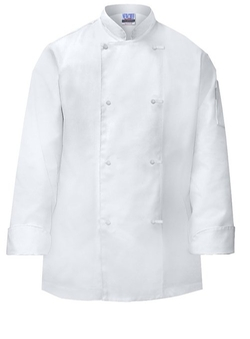 White Basic Mens Chef Coat Knots Buttons by Newchef Fashion in The Hundred-Foot Journey