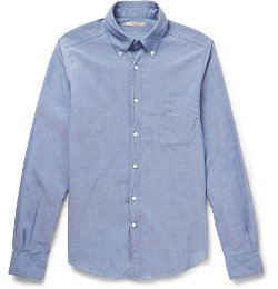 Slim-Fit Button-Down Collar Cotton Shirt by Boglioli in That Awkward Moment