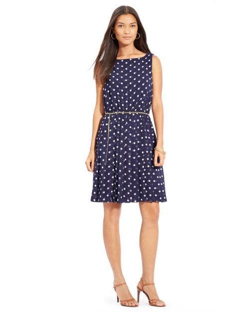Polka-Dot Sleeveless Dress by Lauren Ralph Lauren in Ted 2