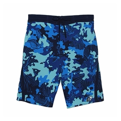 Stretch Hibiscus Camo E-Boardshorts by Laguna in Baywatch