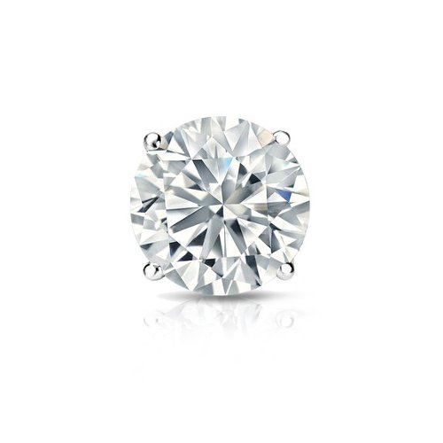 Round Diamond Single Stud Earring by Diamond Wish in Get Hard