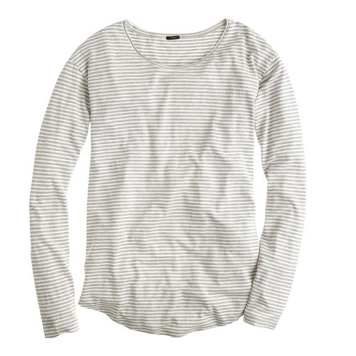 Long Sleeve Linen-Cotton Shirt by J.Crew in Trainwreck