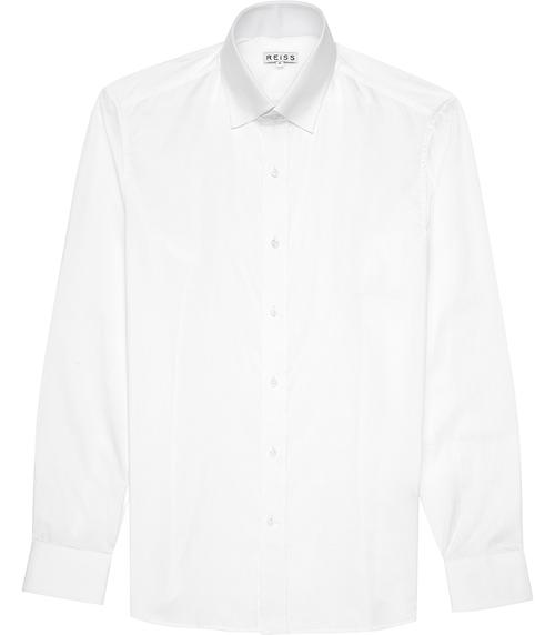 Tab Collar Shirt White by Squire in Ted