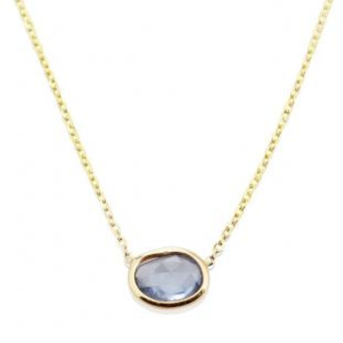 Rose Cut Sapphire Slice Necklace by Vale Jewelry in Billions - Season 1 Episode 8