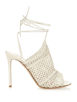 Allyson Braided Leather Sandals by Gianvito Rossi in Mistresses