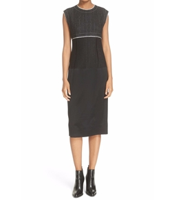 Pinstripe Mixed Media Sheath Dress by DKNY in How To Get Away With Murder