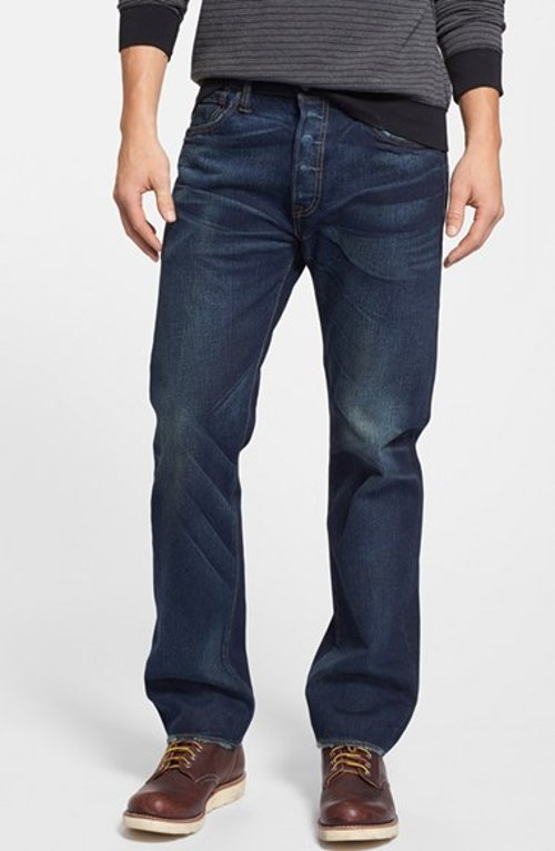 '501' Original Straight Leg Jeans (Oil Change) by Levi's in Entourage