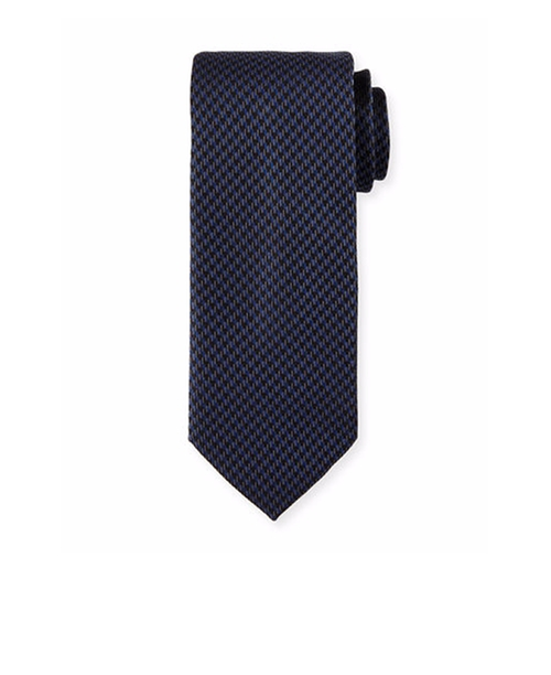Woven Mini-Houndstooth Silk Tie by Brioni in Suits - Season 6 Episode 10