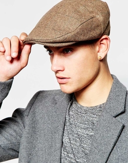 Barrel Flat Cap by Brixton in Scream Queens