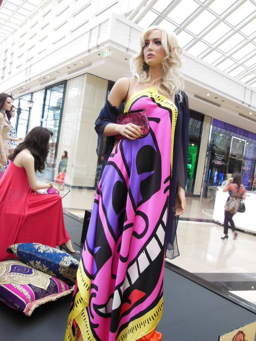 Printed Maxi Dress by Patricia Field for Keith Haring in Sex and the City 2