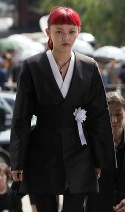 Custom Made Short Black Kimono by Isis Mussenden (Costume Designer) in The Wolverine