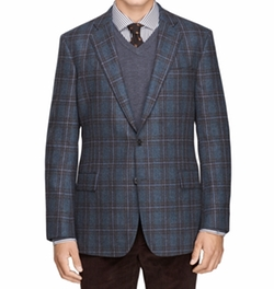 Regent Fit Plaid Sport Coat by Brooks Brothers in Empire