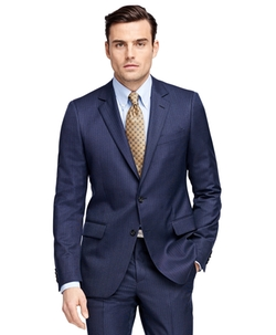 Fitzgerald Fit Tic with Stripe 1818 Suit by Brooks Brothers in Scandal