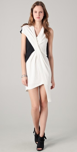 Cross Tuck Dress by Helmut Lang in Elementary