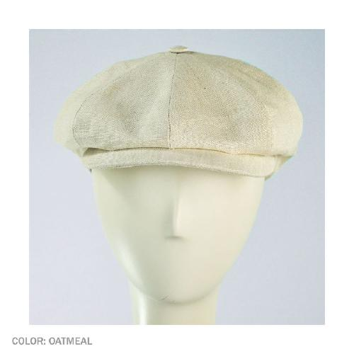 Linen Newsboy Cap by City Sport Caps in The Great Gatsby