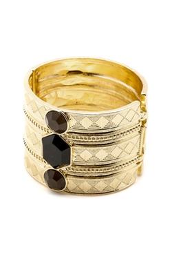 Statement Gold Cuff Bracelet by Portage in Pretty Little Liars
