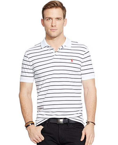 Striped Performance Mesh Polo Shirt by Polo Ralph Lauren in Straight Outta Compton