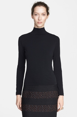 Nuda Fine Jersey Turtleneck Shell Top by St. John Collection in Elementary