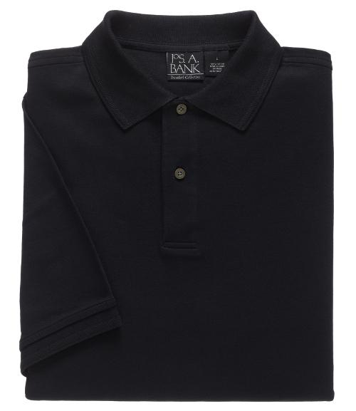 Traveler Short-Sleeve Solid Polo by JoS. A. Bank in Transcendence