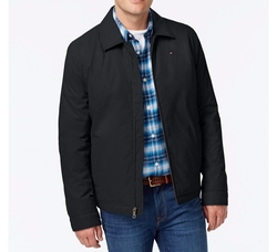 Full-Zip Micro-Twill Jacket by Tommy Hilfiger in Animal Kingdom
