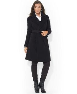 Wool-Cashmere-Blend Belted Wrap Coat by Lauren Ralph Lauren in New Year's Eve