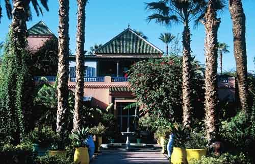 Jardin Majorelle Marrakesh, Morocco in Yves Saint Laurent