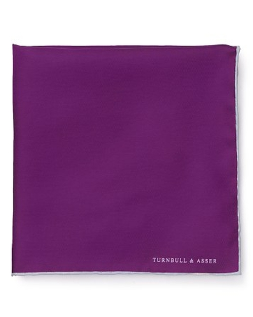 Contrast Trim Pocket Square by Turnbull & Asser in Ballers - Season 1 Episode 3