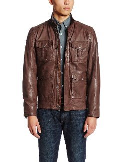 Roadster Leather Jacket by Lucky Brand in Run All Night
