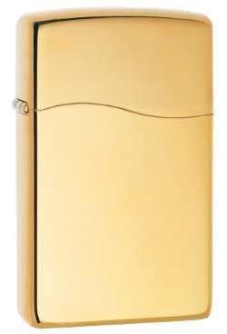 Butane Lighter with Polish Brass Finish by Zippo in The Boy Next Door