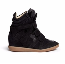 Bekett Suede High Top Wedge Sneakers by Isabel Marant Étoile in Keeping Up With The Kardashians