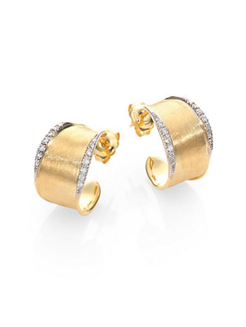 Lunaria Diamond & Yellow Gold Hoop Earrings by Marco Bicego in The Hundred-Foot Journey