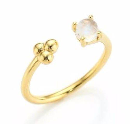 Duality Quantum Moonstone Ring by Pamela Love  in Keeping Up With The Kardashians - Season 12 Preview