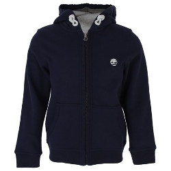 Navy Jersey Zip Through Hoodie by Timberland Kids in Fantastic Four