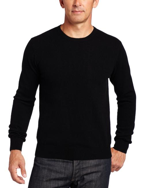 Men's 100% Cashmere Long-Sleeve Crew-Neck Sweater by Williams Cashmere in Jersey Boys