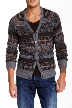 Printed Wool Blend Cardigan by Prps in Masterminds