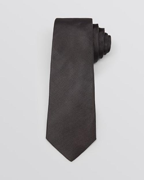 Grosgrain Solid Skinny Tie by Yves Saint Laurent in Entourage