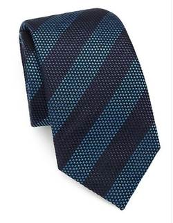Striped Silk/Cotton Tie by Saks Fifth Avenue Collection in Barbershop: The Next Cut