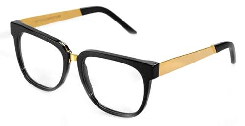 People Black/Gold Metal 347 Eyeglasses by Super in Yves Saint Laurent