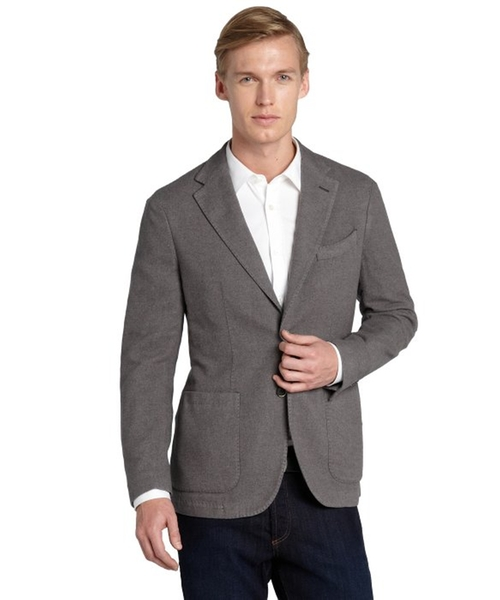 Cashmere-silk Blend Two Button Jacket by Canali in Rosewood