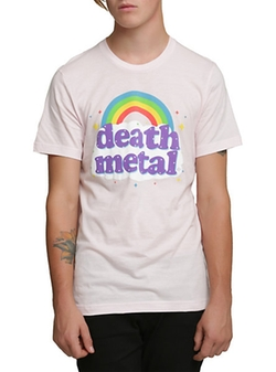 Death Metal Rainbow T-Shirt by Hot Topic in Scream Queens