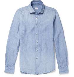 Linen And Cotton-Blend Chambray Shirt by Incotex in The Second Best Exotic Marigold Hotel