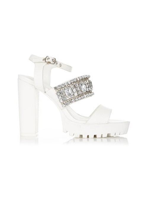 Sofia Embellished Sandals by Miss Selfridge in Scream Queens - Season 1 Episode 6