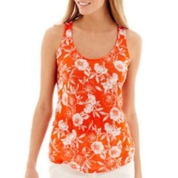 Racerback Linen Floral Tank Top by Stylus in Jane the Virgin