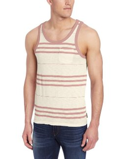 Men's Cedar Creek Stripe Tank Top by French Connection in McFarland, USA