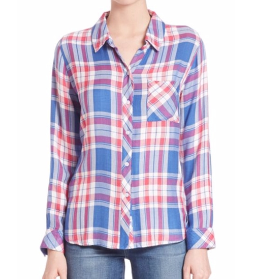 Hunter Herringbone Plaid Shirt by Rails in Modern Family - Season 8 Episode 3